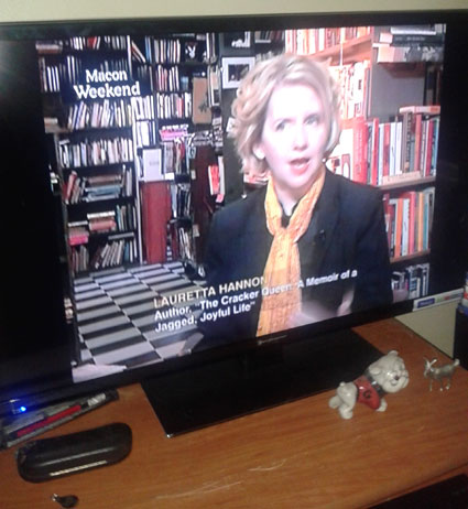 CSPAN Shot of Television Interview with Lauretta Hannon