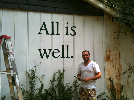 Josh Graff - All is well garage painting