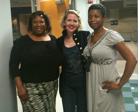 Lauretta iwth Anita Hall and CC Fann at Heart of Georgia Technical College